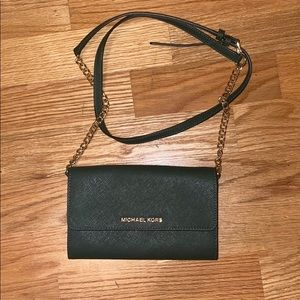 Michael Kors wallet on a chain